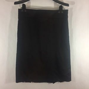 Bebe sateen Pencil skirt with back  pleats